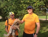 Trevor me & Teddy the dog