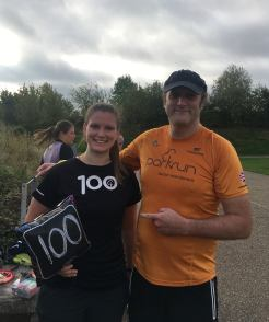 Danelle 100th parkrun