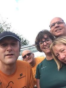 Selfie with tourist friends