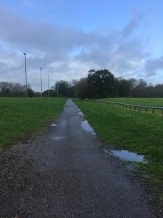 Upton course gravel path