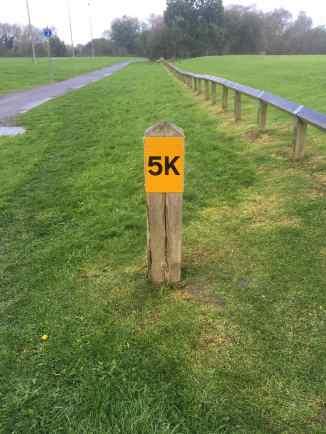 Upton Court 5k marker