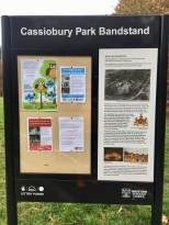 Bandstand info board