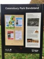 Bandstand info board