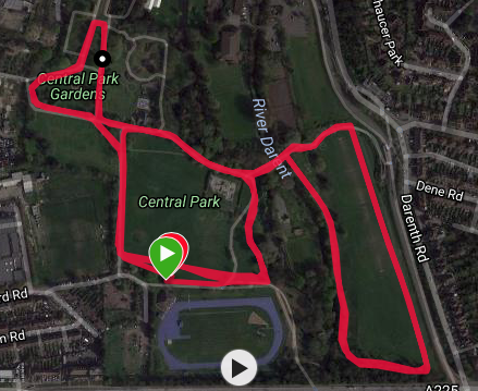 Dartford course map