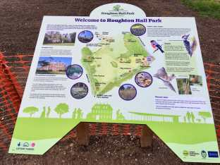 Houghton Hall info sign