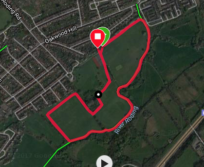 Roding Valley course map