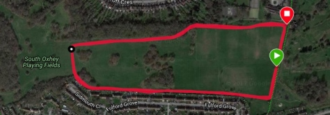 South Oxhey course map