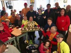 Vicky 100th group cafe shot