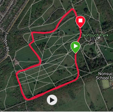 Nonsuch course map