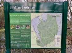 Linford woods park sign