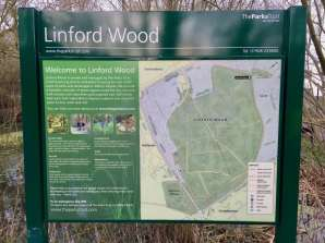 Linford woods park sign