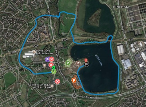 Milton keynes parkrun route + parking