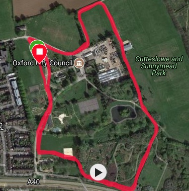 Oxford Winter course map
