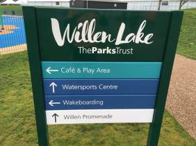 Willen lakes info sign