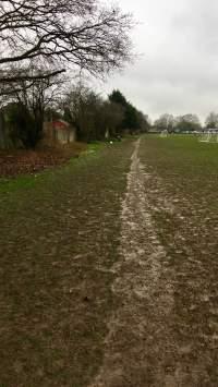 Grass path around playing fields