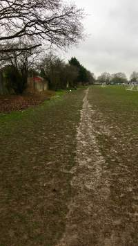 Grass path around playing fields