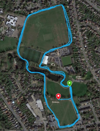 Woodley course map