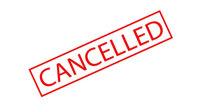 A parkrun cancellation!