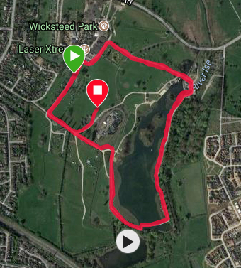 Kettering course map