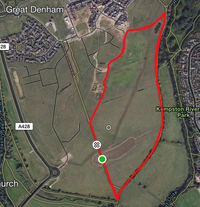 Great Denham course map