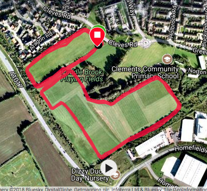 Haverhill course map
