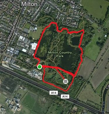 Milton course map