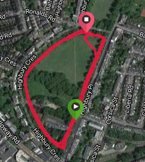 Highbury Fields Course map