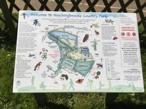 Hinchingbrooke park info sign
