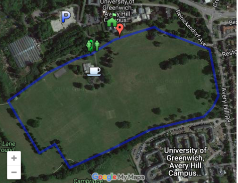 Greenwich course map