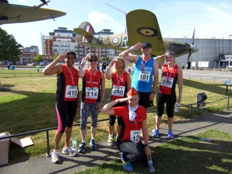 Spitfire 10k Salute Group shot
