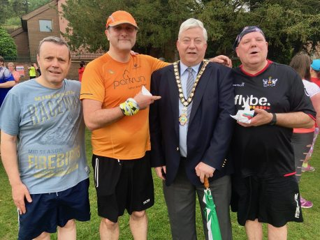 Terry, Kevin me with councillor Tony Green