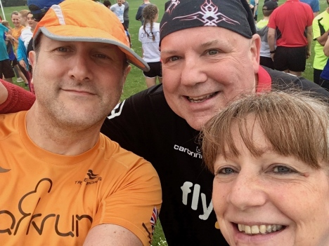 Us with Mandy Watts 30th parkrun