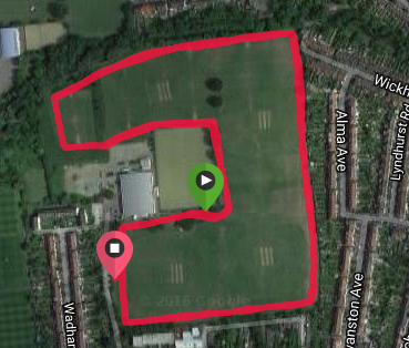 Walthamstow course map
