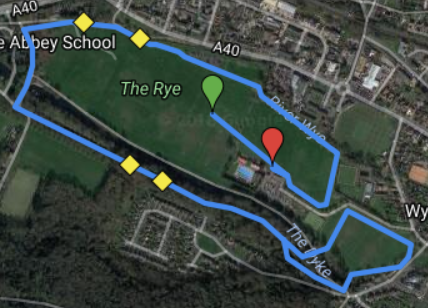 Wycombe Rye course map
