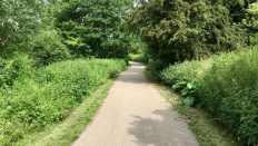 Castle Park course tarmac path