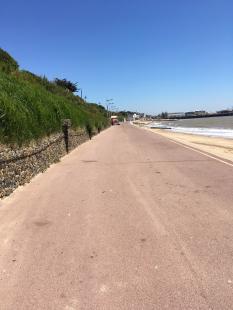 Clacton Beach front promenade