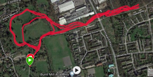 harlow course map
