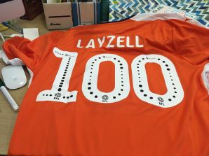 Luton Town 100th top back