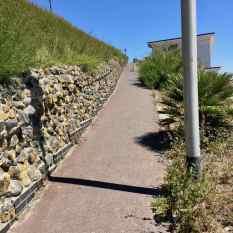 Steep slope