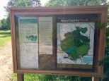 Weald country park info board