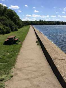 Aldenham course reservoir wall
