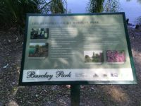 Barclay park restoration sign