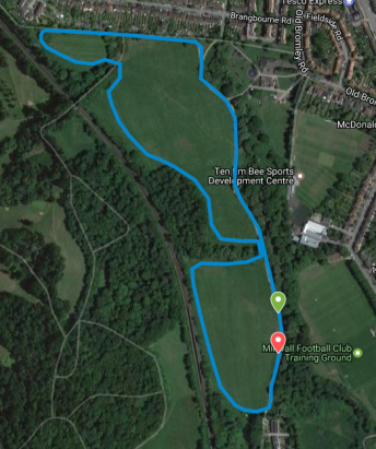 Beckenham Place course map