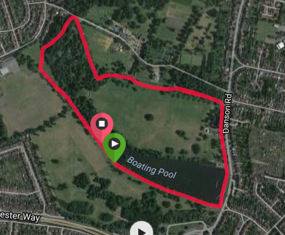 Bexley course map