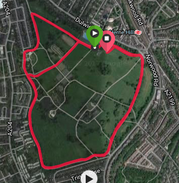 Brockwell course map