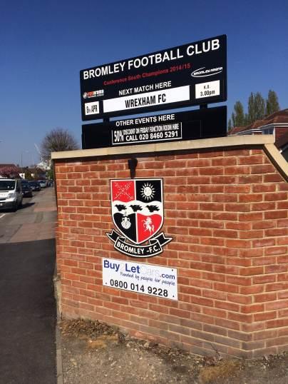 Bromley fixture sign