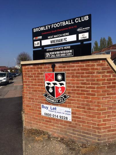 Bromley fixture sign