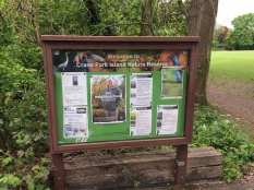 Crane nature reserve sign