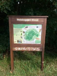 Hoblingwell Wood sign