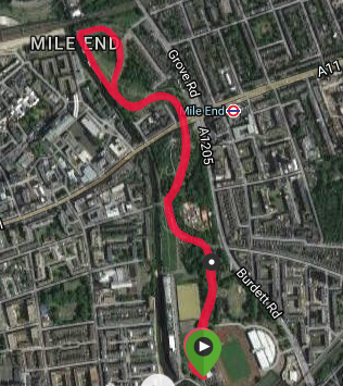 Mile End course map